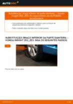 Substituindo Cilindro principal de travão em HONDA INSIGHT (ZE_) - dicas e truques
