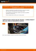 Como substituir Medidor de fluxo de ar HONDA INSIGHT (ZE_) - manual online
