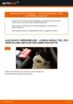 PDF Wechsel Anleitung: Bremsklötze HONDA INSIGHT (ZE_) hinten + vorne