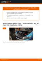 Step by step PDF-tutorial on Anti Roll Bar Links HONDA INSIGHT (ZE_) replacement