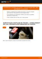Instalação Jogo de reparação da pinça de travão HONDA INSIGHT (ZE_) - tutorial passo-a-passo