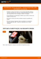 Como mudar e ajustar Discos de freio HONDA INSIGHT: tutorial pdf