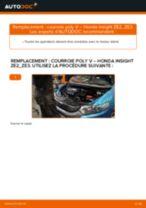 Comment changer : courroie poly V sur Honda Insight ZE2_ZE3 - Guide de remplacement