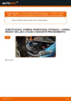 Recomendações do mecânico de automóveis sobre a substituição de HONDA Honda Insight ZE2/ZE3 1.3 Hybrid (ZE2) Escovas do Limpa Vidros