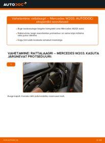 Kuidas välja vahetamist läbi viia: C 220 CDI 2.2 (203.006) Mercedes W203 Rattalaager