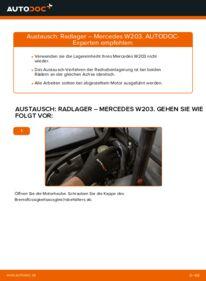 Wie der Wechsel durchführt wird: Radlager C 220 CDI 2.2 (203.006) Mercedes W203 tauschen