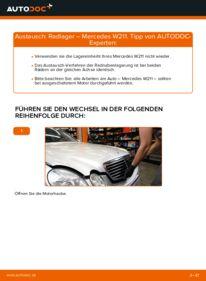Wie der Wechsel durchführt wird: Radlager E 220 CDI 2.2 (211.006) Mercedes W211 tauschen