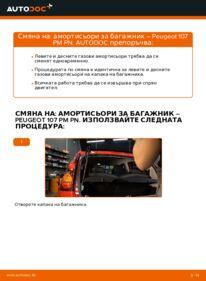 Как се извършва смяна на: Амортисьори За Багажник на 1.0 PEUGEOT 107