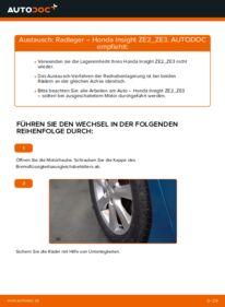 Wie der Wechsel durchführt wird: Radlager 1.3 Hybrid (ZE28, ZE2) Honda Insight ZE2/ZE3 tauschen