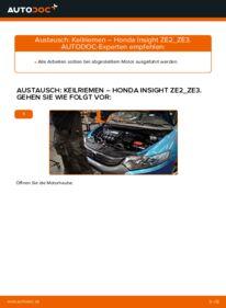 Wie der Wechsel durchführt wird: Keilrippenriemen 1.3 Hybrid (ZE28, ZE2) Honda Insight ZE2/ZE3 tauschen