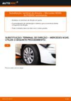 Como mudar terminal de direção em Mercedes W245 - guia de substituição