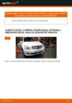 Como mudar correia trapezoidal estriada em Mercedes W245 - guia de substituição