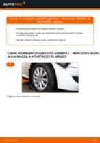 Kormányösszekötő gömbfej-csere Mercedes W245 gépkocsin – Útmutató