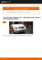 Cómo cambiar: correa poli V - Mercedes W245 | Guía de sustitución