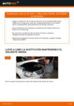 Cómo cambiar: discos de freno de la parte trasera - Mercedes W245 | Guía de sustitución