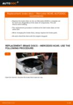How to replace and adjust Brake rotors MERCEDES-BENZ B-CLASS: pdf tutorial