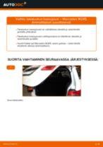 Kuinka vaihtaa takaluukun kaasujousi Mercedes W245-autoon – vaihto-ohje
