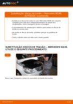 Como mudar discos de travão da parte dianteira em Mercedes W245 - guia de substituição