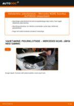 Kuidas vahetada ja reguleerida Piduriklotsid MERCEDES-BENZ B-CLASS: pdf juhend