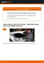 Înlocuire Placute Frana spate si față MERCEDES-BENZ cu propriile mâini - online instrucțiuni pdf