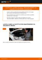 Cómo cambiar: pastillas de freno de la parte trasera - Mercedes W245 | Guía de sustitución