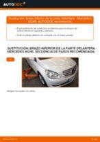 Cómo cambiar: brazo inferior de la parte delantera - Mercedes W245 | Guía de sustitución