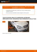 Come cambiare braccio inferiore anteriore su Mercedes W245 - Guida alla sostituzione