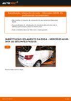 Como mudar rolamento da roda da parte traseira em Mercedes W245 - guia de substituição