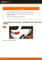 PDF asendamise juhend: Rattalaager MERCEDES-BENZ B-klass (W245) tagumine ja eesmine