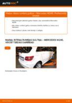 Tiešsaistes bezmaksas instrukcijas kā mainīties Riteņa rumbas gultnis MERCEDES-BENZ B-CLASS (W245)