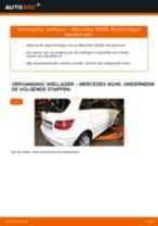 MERCEDES-BENZ Wiellagerset achter en vóór veranderen doe het zelf - online handleiding pdf