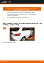 Fitting Brake caliper service kit MERCEDES-BENZ B-CLASS (W245) - step-by-step tutorial