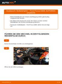Wie der Wechsel durchführt wird: Stoßdämpfer 1.6 16V Ford Focus DAW tauschen