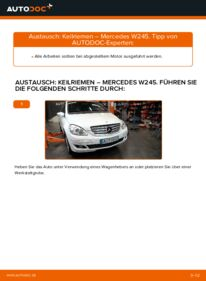 Wie der Wechsel durchführt wird: Keilrippenriemen B 180 CDI 2.0 (245.207) Mercedes W245 tauschen