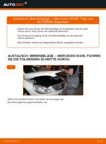 Wie der Ersatz vollführt wird: Bremsbeläge am MERCEDES-BENZ B-CLASS