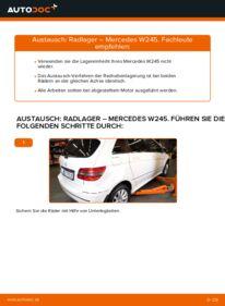 Wie der Wechsel durchführt wird: Radlager B 180 CDI 2.0 (245.207) Mercedes W245 tauschen
