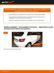 Comment effectuer un remplacement de Roulement De Roues sur B 180 CDI 2.0 (245.207) Mercedes W245