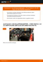 Heckklappendämpfer selber wechseln: Ford Fiesta V JH JD - Austauschanleitung