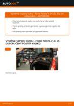 Jak vyměnit vzpery kufru na Ford Fiesta V JH JD – návod k výměně