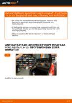 Πώς να αλλάξετε αμορτισέρ πορτ μπαγκαζ σε Ford Fiesta V JH JD - Οδηγίες αντικατάστασης