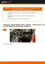 Kako zamenjati avtodel amortizer prtljažnih vrat na avtu Ford Fiesta V JH JD – vodnik menjave
