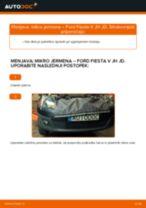 Kako zamenjati avtodel mikro jermen na avtu Ford Fiesta V JH JD – vodnik menjave