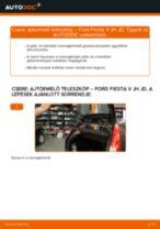 Ajtóemelő teleszkóp-csere Ford Fiesta V JH JD gépkocsin – Útmutató
