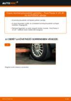 Kormányösszekötő gömbfej-csere Ford Fiesta V JH JD gépkocsin – Útmutató