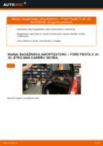 Degvielas filtrs dīzelis un benzīns maiņa FORD FIESTA V (JH_, JD_): ceļvedis pdf