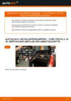 Wie Ford Fiesta V JH JD Heckklappendämpfer wechseln - Schritt für Schritt Anleitung