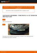 Hinweise des Automechanikers zum Wechseln von FORD Ford Fiesta V jh jd 1.4 16V Bremsbeläge