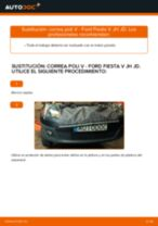 PDF manual de reemplazo: Correa trapecial poli v FORD Fiesta Mk5 Hatchback (JH1, JD1, JH3, JD3)