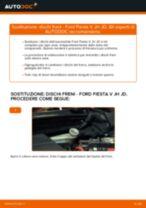 Come cambiare dischi freno della parte anteriore su Ford Fiesta V JH JD - Guida alla sostituzione