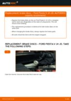 Toyota Prius W50 change Brake Caliper Repair Kit : guide pdf